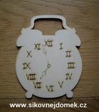 2D výřez budík římská čísla k sestavě Momenty v. 12,5x10cm