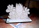 Stojánek na ubrousky květinky v.cca 10x13cm