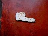 2D výřez na špejli krokodýl menší-v.2,6x5,5cm
