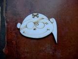 2D výřez na špejli chlapeček pirát-v.5,4x6,5cm