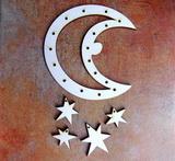 Lapač snů -měsíc pr.13,5cm+ hvězdy