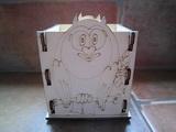 Krabička-stojánek na tužky sova na větvi v.13x10x9cm