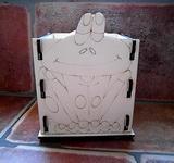 Krabička-stojánek na tužky žába v.13,5x10,5x9cm