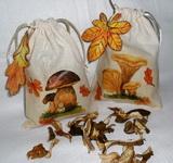 Lepidlo na textil - výroba pytlíku na sušené houby