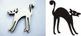 Razítko překližka kočka halloween-v.6,5x5,8cm