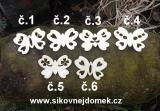 2d výřez motýl síla 4mm- 6,5x4,8cm -č.3