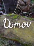 2D výřez nápis Domov DJB - cca v.5,4x15cm