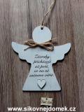2D anděl n.t.  Zázraky přicházejí -17x16cm