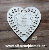 Svatební srdce - pokladnička na peníze 22x22cm