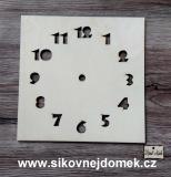 2D hodiny čtverec 19,5x19,5cm bez HOD.STROJKU