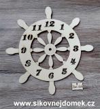 2D hodiny kormidlo s čísly 24,5cm-BEZ HOD.STROJKU