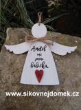 3D anděl babička- v.14x17cm