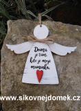 3D anděl Doma je tam- v.18x21,5cm