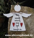 3D anděl Nidky neopouštěj- v.18x21,5cm