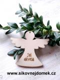 Anděl v.6x6,7cm - Pro maminku