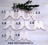 Andělská křídla č.4 - 6x9cm