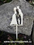 Zápich svatební ženich nevěsta,chlapeček-síla mat.0,4cm