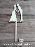 Zápich svatební ženich nevěsta-síla mat.0,4cm