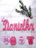 Jméno Danielka+narození -dekor