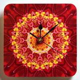 Dřevěné hodiny s mandalou odvahy