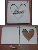 3D rámeček Love 12x12cm