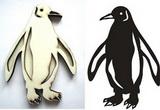 Razítko překližka tučňák 9,2x6,5cm