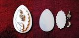 3D zápich na špejli vejce+2 notičky -4ks