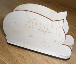 TP3D0040 - Stojánek na ubrousky KOÈKA 15,3 x 9cm