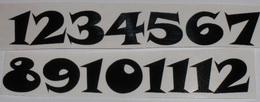 Èísla na hodiny nalepovací èerná - TYP È.19- v.1,3cm
