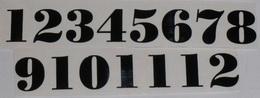 Èísla na hodiny nalepovací èerná - TYP È.18- v.1,4cm