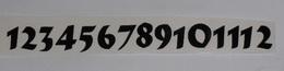 Èísla na hodiny nalepovací èerná - TYP È.16- v.1,8cm