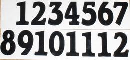 Èísla na hodiny nalepovací èerná - obyèejná  v.1,8cm
