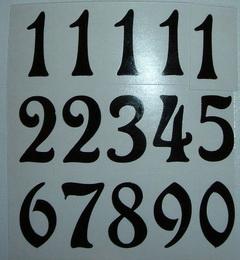Èísla na hodiny nalepovací èerná - ozdobná  v.1,9cm