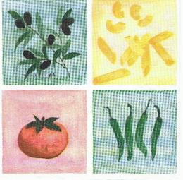 OL 009 - ubrousek 33x33 - rajèe,oliva,paprièka...