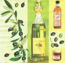 OL 002 - ubrousek 33x33 - huile d´olive
