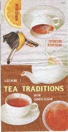 KC 015 - ubrousek 25x25 - tea traditions hnìdá