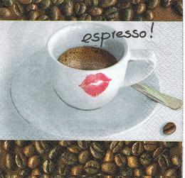 KC 027 - ubrousek 33x33 - espresso! pusinka