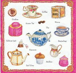 KC 034 - ubrousek 33x33 - rùžový tea