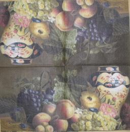 ZA 017 - ubrousek 33x33 - váza +ovoce