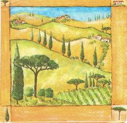 ZA 034 - ubrousek 33x33 - krajina toskansko