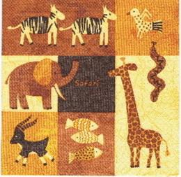 ET 016 - ubrousek 33x33 - mix etno zvíøátek