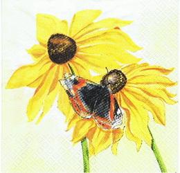 SL 005 - ubrousek 33x33 - sluneènice + motýl