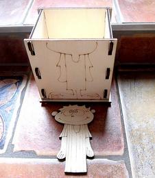 Krabièka na tužky CHLAPEÈEK 11,5x12x9cm