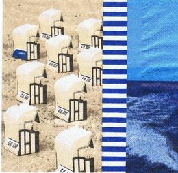 MO 019 - ubrousek 33x33 - domky na pláži