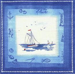 MO 044 - ubrousek 25x25 - loïka v modrém rám