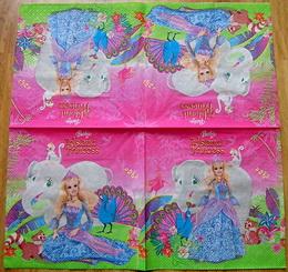 DE 026 - ubrousek 33x33 - princezna se slonem