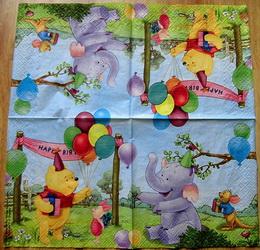 DE 031 - ubrousek 33x33 - medvídek - happy birt...