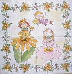 DE 041- ubrousek 33x33 - holèièky na kytièkách