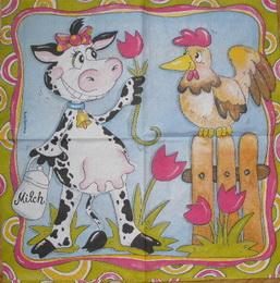 DE 063 - ubrousek 25x25 - kravièka milch