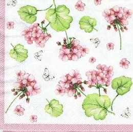 KV 073 - ubrousek 33x33 - květinky+motýlci - zvětšit obrázek